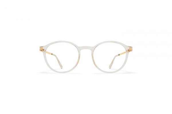 mykita-lite-acetate-rx-yaska-c1-champagne-glossy-gold-clear-front_Hultins Optik