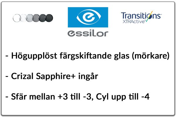 Essilor Orma 1,5 RX Transitions Xtractive