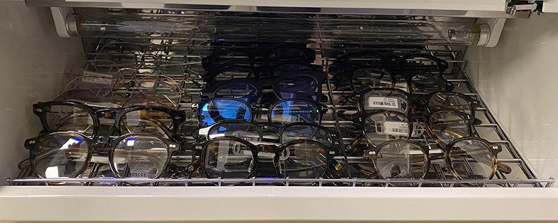 Desinficering av glasögon